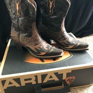 Ariat Western Womens 6.5B Boots Wingtip Snip Toe